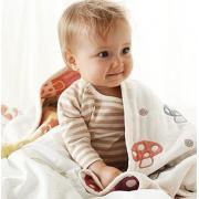 Hoppetta champignon 宝宝6层纱布蘑菇睡袋