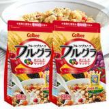 Calbee卡乐比 水果果仁谷物营养即食麦片早餐800g*6袋 一箱装