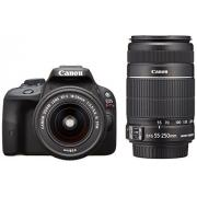 Canon 佳能 EOS Kiss X7(100D)雙鏡頭 EF-S18-55/55-250mm 套機 黑色