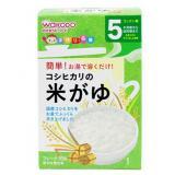 Wakodo 和光堂 宝宝辅食高钙纯白米糊 (5g×10包)*6盒