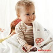 Hoppetta 7225 蘑菇六层纱布婴儿睡袋