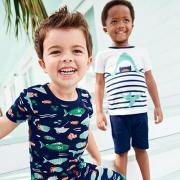 卡特Carter's最新特惠:儿童短裤、T恤等仅3折+购满40美元还可享额外7.5折