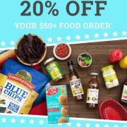 Vitacost最新优惠:婴儿辅食、有机食品等全场购满50美元既享额外8折