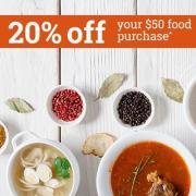 Vitacost精选特惠:婴儿辅食、有机食品等购满$50即可享额外8折