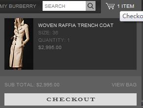 Burberry海淘攻略:网站购物流程