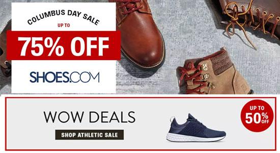 shoes.com最新优惠:精选热卖品牌产品仅2.5折起+还可享额外7.5折