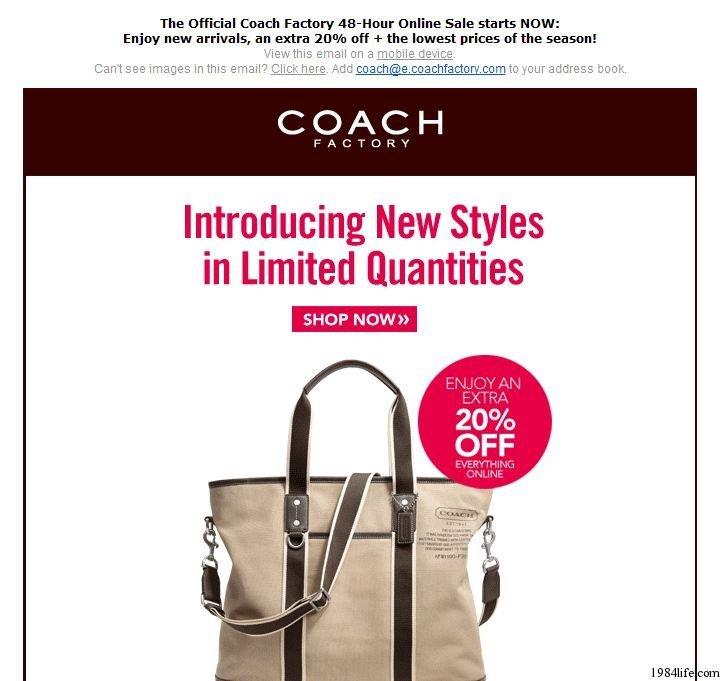 Coach工厂店(Coach Factory)注册、获得邀请以及购买方法