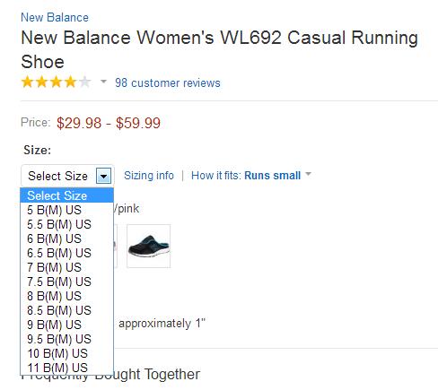 在amazon海淘鞋子如何选择尺寸?