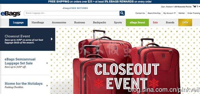 Ebags.com海淘攻略:美国ebags买包包攻略及官网介绍