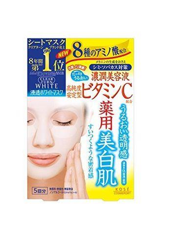 凑单品:Kose 高丝 Clear Turn White VC美白淡斑面膜 5片