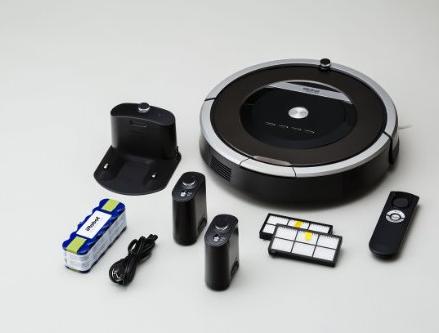 Deal of the Day:iRobot Roomba 870 扫地机器人(AeroForce胶刷,2套滤网+虚拟墙)