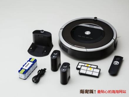 iRobot Roomba 870 扫地机器人(AeroForce胶刷,2套滤网+虚拟墙)