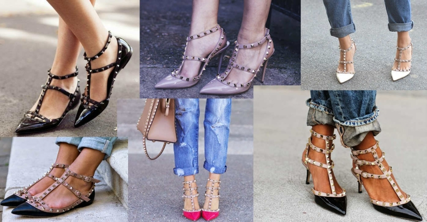 valentino铆钉鞋