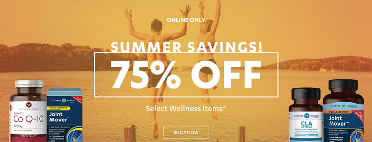 夏季特惠!Vitamin World 美维仕:精选热卖保健产品 低至2.5折! - 海淘优惠海淘折扣|55海淘网