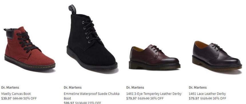 Nordstrom Rack:精選 Dr. Martens 時尚鞋履 低至6折 - 海淘優惠海淘折扣|55海淘網