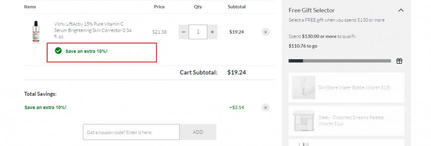 SkinStore:精选理肤泉、vichy等药妆护肤 无门槛7.5折+额外9折 - 海淘优惠海淘折扣|55海淘网