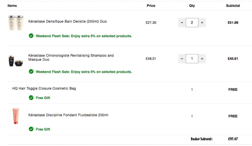 【正装赠品】HQhair:Kerastase 卡诗 洗护产品 低至7折+额外9.5折+满£80送正装护发素! - 海淘优惠海淘折扣|55海淘网